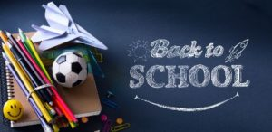 """Chalkboard with """"Back To School"""" on it"""
